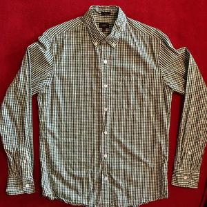 J. Crew gingham button down shirt